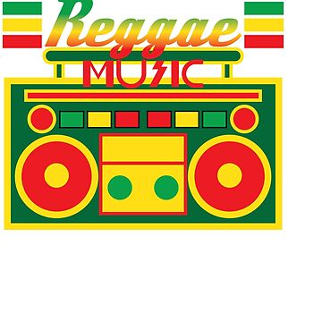Fan of Reggae Music? Wear it anytime you want with this awesome colorful and creative tee design! by Customdesign200