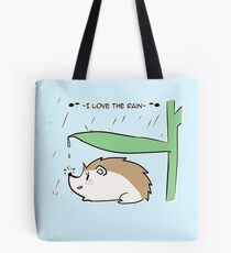 I love the rain Tote Bag