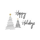 Happy Holidays Stripe Christmas Trees by graphicloveshop