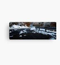 Icy  Roads & Freezing Toes! Canvas Print