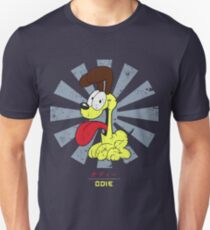 Camiseta unisex Odie el perro retro japonés garfield