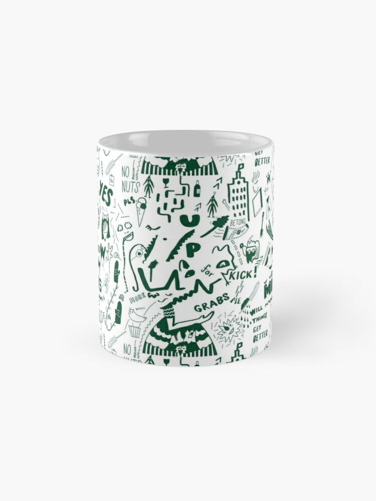 Alternate view of The busy pattern with the creative creatures Mug