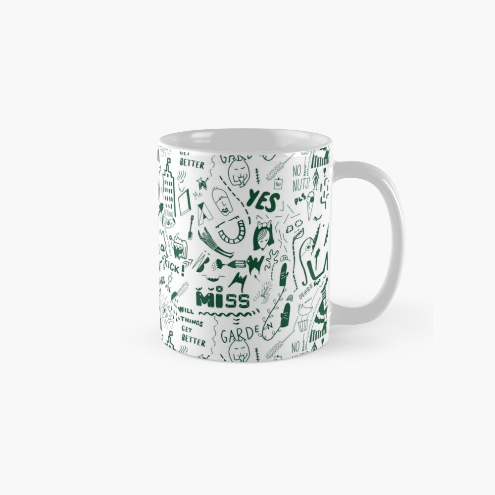 The busy pattern with the creative creatures Mug