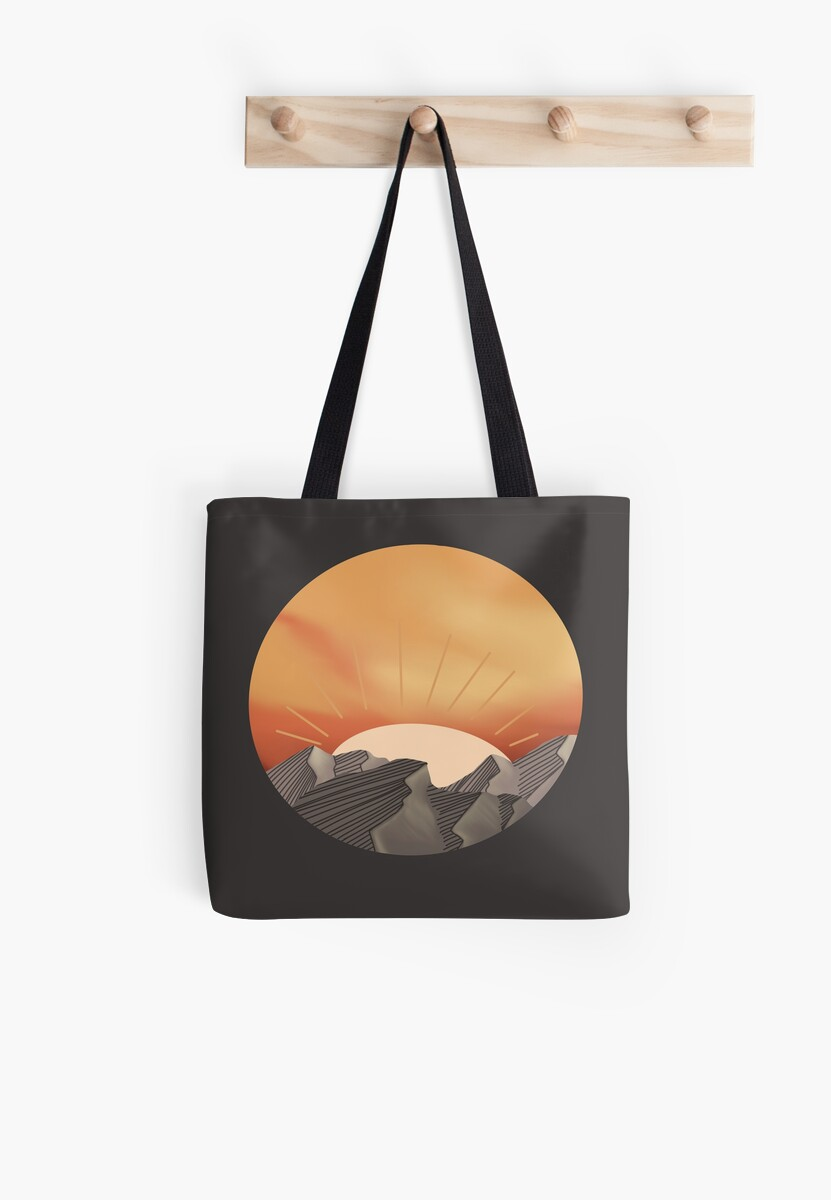 Sunset over mountains by -iDraw-