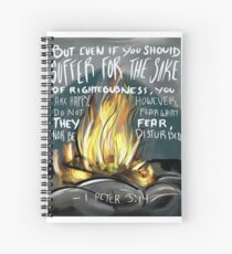 1 Peter 3:14 - Jehovahs witnesses Spiral Notebook