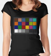 Color Checker Chart Women's Fitted Scoop T-Shirt