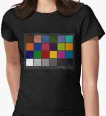 Color Checker Chart Women's Fitted T-Shirt