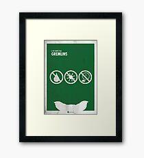 Gremlins Minimal movie Poster Framed Print