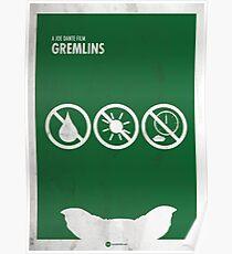 Gremlins Minimal Film Poster Poster