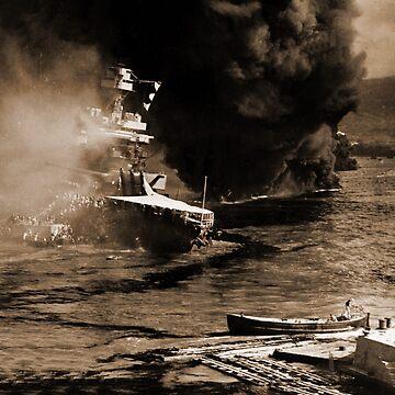 USS California  Pearl Harbor by dianegaddis