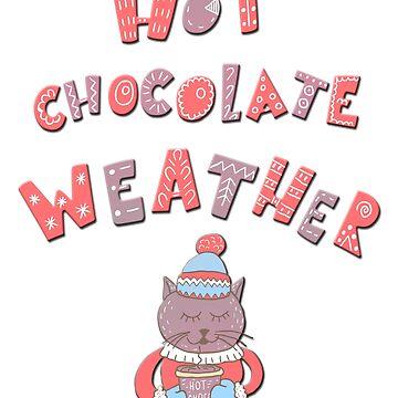 Winter cartoon funny christmas cartoon hot chocolate cat kitten by ACoetzer