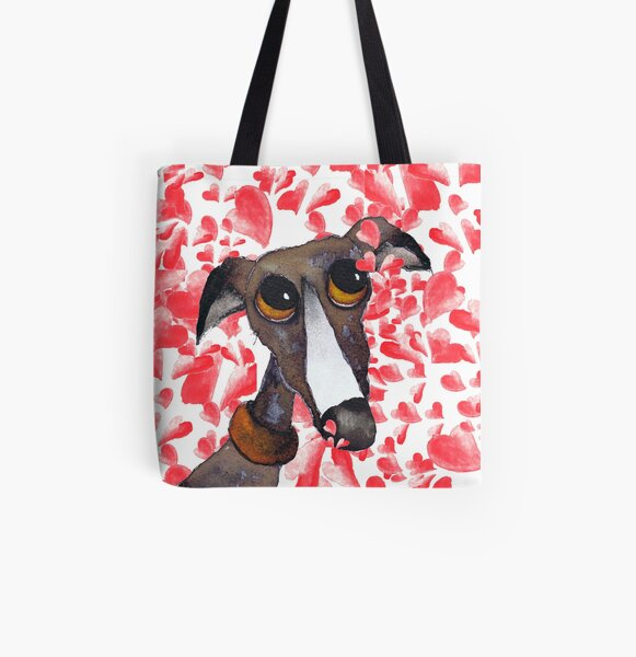 GREYHOUND g262 All Over Print Tote Bag