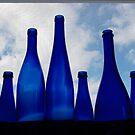Blue bottles by Bob  Perkoski