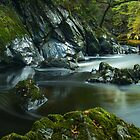 10 seconds at Fairy Glen, Betws Y Coed, Snowdonia North Wales by Cliff Williams