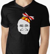 Kamekona's Helicopter Tours - Head & Hat Men's V-Neck T-Shirt