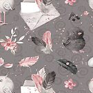 «mensaje de pájaro gris» de designersara