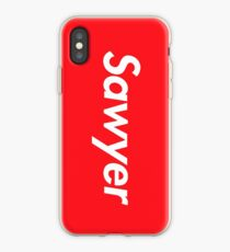 Hello My Name Is Sawyer Name Tag iPhone Case