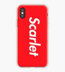 Hello My Name Is Scarlet Name Tag iPhone Case