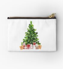 Pine Christmas Tree with Presents Studio Pouch