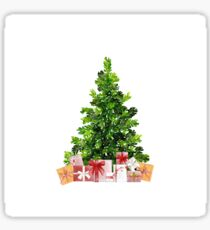 Pine Christmas Tree with Presents Sticker