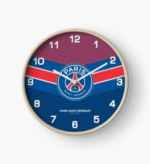 PSG (Paris Saint-Germain) | est 1970 | Logo Design - Pillow | Phone Case | Tablet | T Shirt | Duvet | Mug | Clock | Poster | Home Decor and more Clock