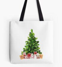 Pine Christmas Tree with Presents Tote Bag