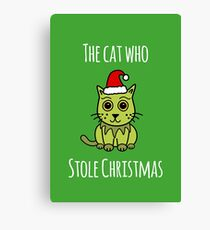 'The Cat Who Stole Christmas' Canvas Print