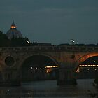 Bridges of Rome in the Evening by Anna Lemos