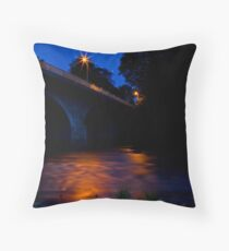 River Dee at night Throw Pillow