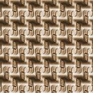 Battery Mishler ladder going nowhere, sepia pattern by Dawna Morton