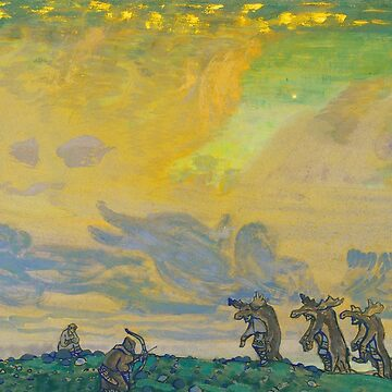 The Great Sacrifice. Setting for Stravinsky's Ballet Sacred Spring by Nicholas Roerich by classicartcache