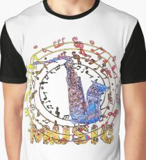 Musical Saxophone Graphic T-Shirt