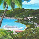 """ Charlotte Amalie Harbor "" St Thomas, USVI by Matthew Campbell"