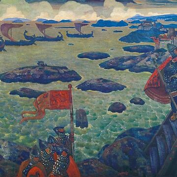 Ready for the Campaign (The Varangian Sea) by Nicholas Roerich by classicartcache