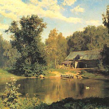 Pond in Abramtsevo by Vasily Polenov by classicartcache