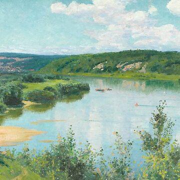 Oka Summer Day by Vasily Polenov by classicartcache