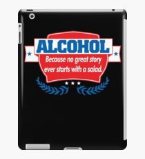 Funny Alcohol Salad T-Shirt Comedy Tees Humor Vintage iPad Case/Skin