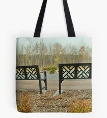 Double up Bench! Tote Bag