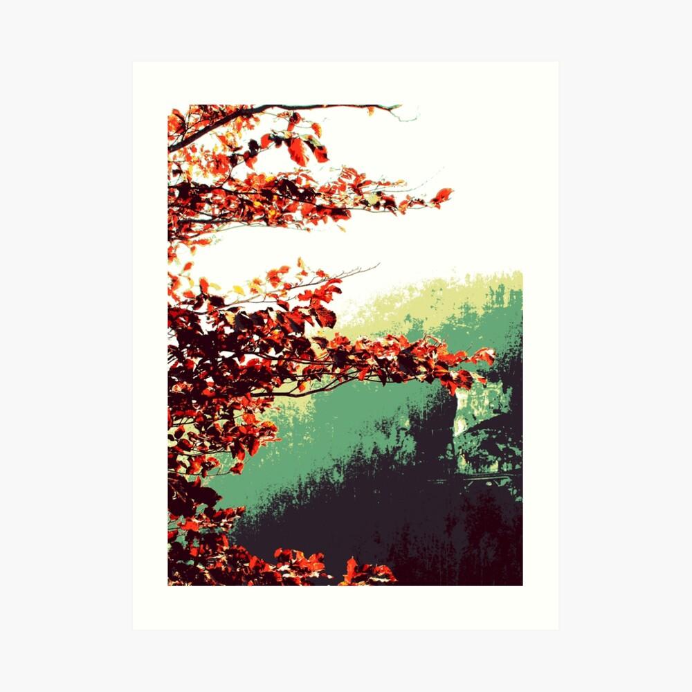 Herbst im Tal Kunstdruck
