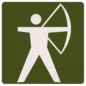 Outdoor Recreational Archery Road Sign by surgedesigns
