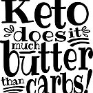 Keto does it much butter than carbs by juvee