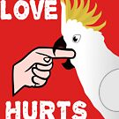 Love Hurts Sulfur Crested Cockatoo Parrot Biting by einsteinparrot