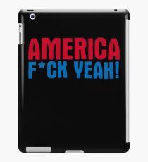 America Yeah Funny TShirt Epic T-shirt Humor Tees Cool Tee iPad Case/Skin