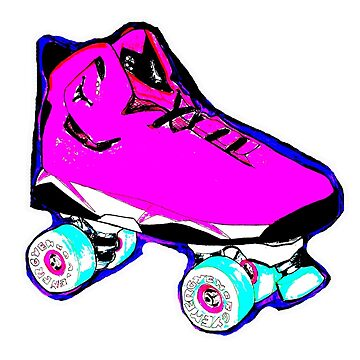 pink pop art skate by brandydevoid