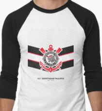 Sport Club Corinthians Paulista | est 1910 | Logo Design - Pillow | Phone Case | Tablet | T Shirt | Duvet | Mug | Clock | Poster | Home Decor and more Men's Baseball ¾ T-Shirt