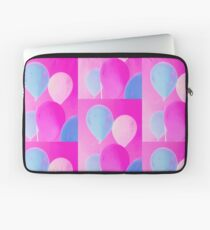 Gift for Teens - Balloony - Neon Pink Blue Balloons Art  Laptop Sleeve