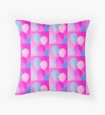 Gift for Teens - Balloony - Neon Pink Blue Balloons Art  Floor Pillow