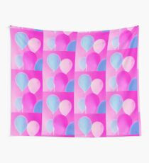 Gift for Teens - Balloony - Neon Pink Blue Balloons Art  Wall Tapestry