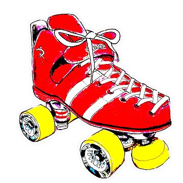 Red Pop art Skate by brandydevoid
