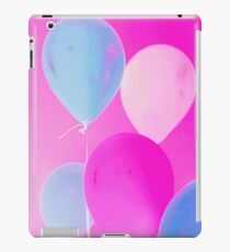 Gift for Teens - Balloony - Neon Pink Blue Balloons Art  iPad Case/Skin